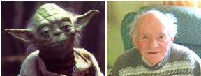 Yoda and Stuart Freeborn