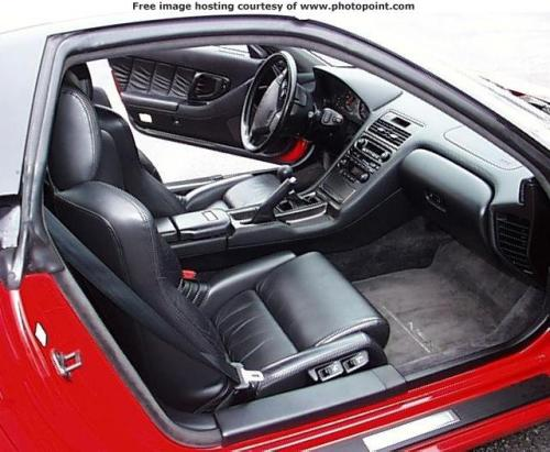 1991 acura nsx interior. red at dealership interior passenger side 1991 acura nsx